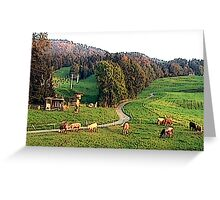 """Grazing In The Alps - Koblach, Austria"" Greeting Card"