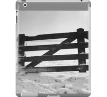 Fence in snow landscape iPad Case/Skin