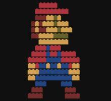 8-bit brick mario  One Piece - Short Sleeve