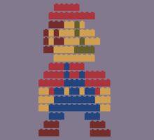 8-bit brick mario  Kids Tee