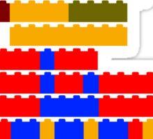 8-bit brick mario  Sticker