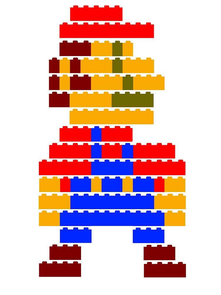 8-bit brick mario by McLovely