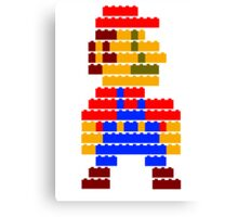 8-bit brick mario Canvas Print