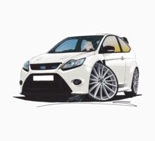 Ford Focus RS (Mk2) White Kids Tee