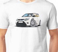 Ford Focus RS (Mk2) White Unisex T-Shirt