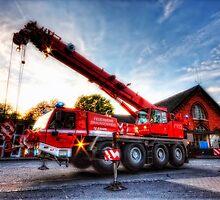 lorry mounted telescopic crane by MarkusWill
