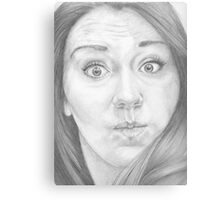 Mmm ... a funny face ... Something like this? Canvas Print