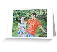 Laughing in the Park Greeting Card