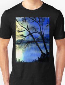 Sunset over a Lake, Derbyshire. T-Shirt