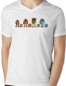 Samus, the cartridge years Mens V-Neck T-Shirt