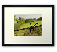 Barbed Wire At Loch Ness Framed Print