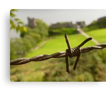 Barbed Wire At Loch Ness Canvas Print