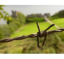 Barbed Wire At Loch Ness Photographic Print