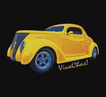 Yellow Ford Coupe T-Shirt by ChasSinklier