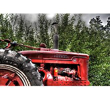 Indiana Tractor Photographic Print