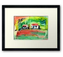 Psychedelic Cottages Framed Print