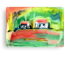 Psychedelic Cottages Metal Print