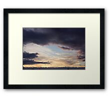 The portal – cloud claw Framed Print