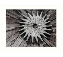 Wooden Symmetry Art Print