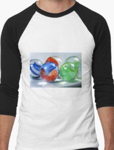 Red, Blue And Green Men's Baseball ¾ T-Shirt