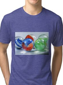 Red, Blue And Green Tri-blend T-Shirt
