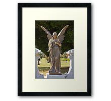 Benediction – Mountain View Cemetery Angel Framed Print