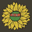 Ninja Turtle Flower Power by RoomWithAMoose