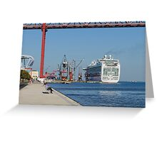 cruise ship Ventura, Port of Lisbon, Portugal Greeting Card