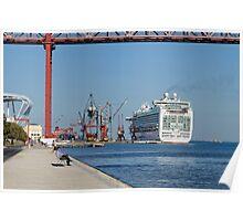 cruise ship Ventura, Port of Lisbon, Portugal Poster