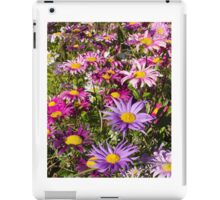 Daisy drama in pinks and purples -1 iPad Case/Skin