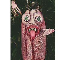 The Blob Waits Among the Grasses Photographic Print