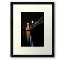 Big Ben at night Framed Print