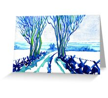 Cherpit Lane, Longstone Moor, Derbyshire. Greeting Card