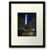 Pilgrim Monument At Night Framed Print
