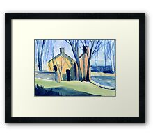 Buildings at Arkwright's Mill, Derbyshire Framed Print