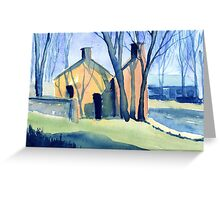 Buildings at Arkwright's Mill, Derbyshire Greeting Card