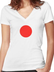 Japanese Flag Top - I Love Japan - T-shirt - Nippon Tīshatsu Women's Fitted V-Neck T-Shirt