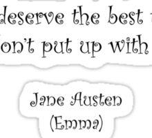 Jane Austen quote - Emma Sticker