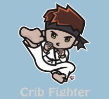 Martial Arts/Karate Boy - Jumpkick - Crib Fighter (light) Kids Tee