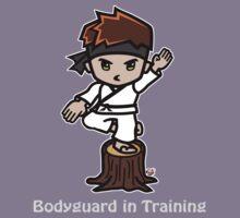 Martial Arts/Karate Boy - Crane one-legged stance - Bodyguard Kids Tee