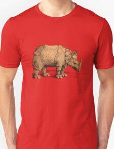 Vintage Rhinoceros Illustration Unisex T-Shirt
