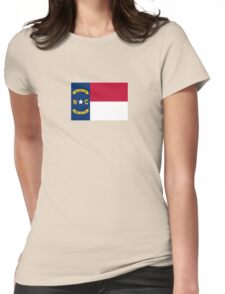 North Carolina USA State Charlotte Flag Bedspread T-Shirt Sticker Womens Fitted T-Shirt