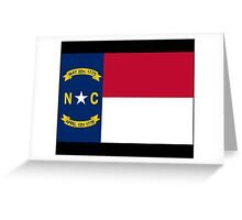 North Carolina USA State Charlotte Flag Bedspread T-Shirt Sticker Greeting Card