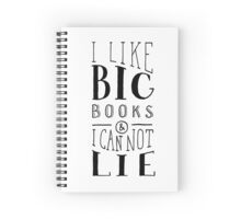 I Like Big Books (White) Spiral Notebook