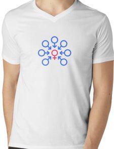 Bukkake Mens V-Neck T-Shirt