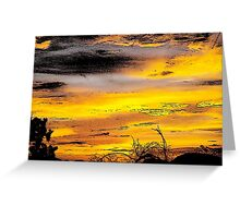 Sunset Ink Print Greeting Card