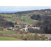 Wine Country in Southern Austria Photographic Print
