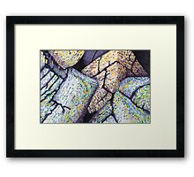 Colorful Boulders * Framed Print