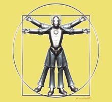 Cyber-Vitruvian Man One Piece - Short Sleeve