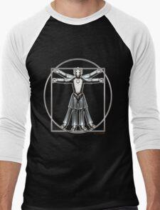 Cyber-Vitruvian Man Men's Baseball ¾ T-Shirt